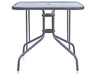 Купить стол Афина-мебель 80х80 silver metallic