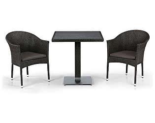 Купить  комплект садовой мебели Афина-мебель T607D/Y350B-W53 Brown 2Pcs