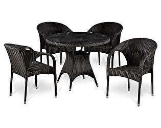 Купить  комплект садовой мебели Афина-мебель T220CBT/Y290B-W52 Brown 4Pcs