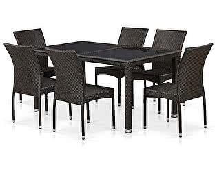 Купить  комплект садовой мебели Афина-мебель T246A/Y380A-W53 Brown 6Pcs