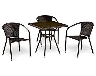 Купить  комплект садовой мебели Афина-мебель T283BNT/Y137C-W51 Brown 3Pcs