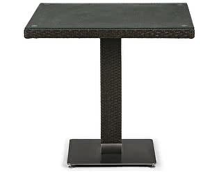 Купить стол Афина-мебель Плетеный T606SWT-W53-80x80 Brown