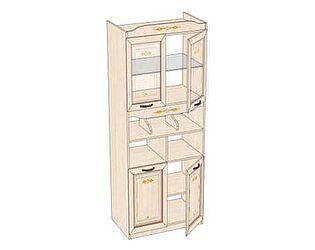 Стеллаж комбинированный со стеклом Любимый дом Аврора, ЛД 504.060