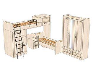 Комплект мебели для детской Аврора №4