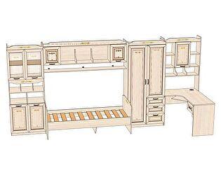 Комплект мебели для детской Аврора №6