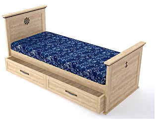 Кровать Аква Родос Skipper (90) без выдвижной тумбы для белья