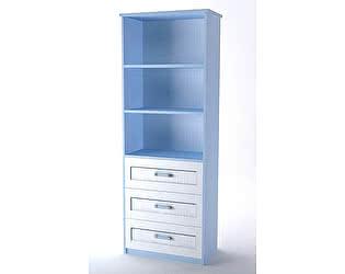 Шкаф для книг Аква Родос Voyage 1 (голубой)