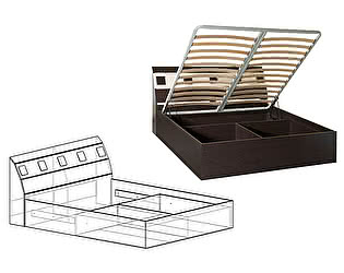 Кровать Мебель Маркет Версаль 1600 с подъемным механизмом
