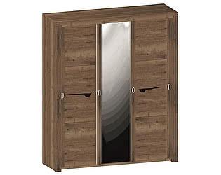 Купить шкаф СБК купе Гарда 3-х дверный (дуб галифакс табак)