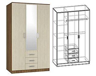 Шкаф Мебель Маркет Светлана 3-х створчатый комбинированный с зеркалом