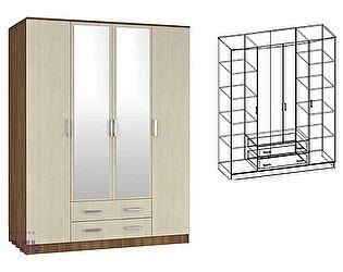 Шкаф Мебель Маркет Светлана 4-х створчатый комбинированный с зеркалами