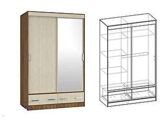 Шкаф-купе Мебель Маркет Светлана 2-х створчатый с ящиками 1350 с 1 зеркалом