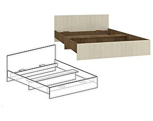 Кровать с прямой спинкой Мебель Маркет Светлана 1200