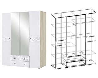 Купить шкаф Мебель Маркет Винтаж 4х-створчатый