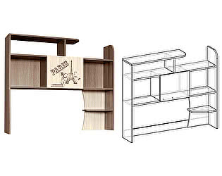 Купить  Мебель Маркет Надставка к столу Сенди
