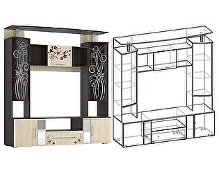 Центральная секция Мебель маркет Кватро