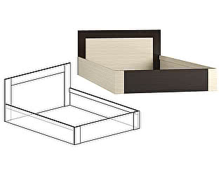 Кровать Мебель Маркет Берта 1400 (Венге/Ясень шимо светлый)