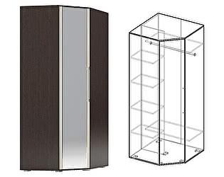 Купить шкаф Мебель Маркет Берта угловой с зеркалом (Венге/Ясень Шимо светлый)