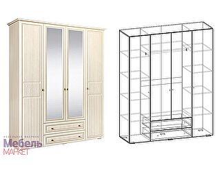 Купить шкаф Мебель Маркет Джина 4х створчатый