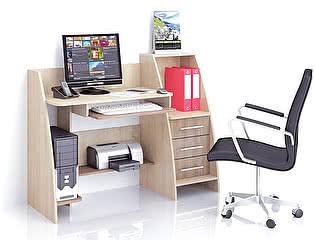 Стол ТЭКС Грета-9 (Ясень шимо) компьютерный
