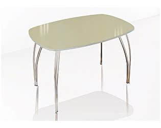 Купить стол ТЭКС Лотос обеденный 800 со стеклом (Лакобель ваниль)