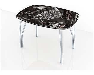 Купить стол ТЭКС Лотос обеденный 800 со стеклом