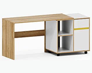 Купить стол Заречье Радуга Р9а письменный (вставка желтый)