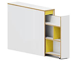 Купить тумбу Заречье Радуга Р12 приставная (вставка желтый)