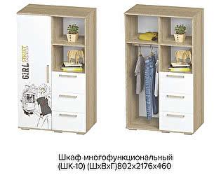 Шкаф многофункциональный BTS Сенди ШК-10 SRTEET GIRL