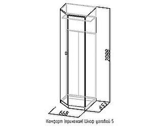 Шкаф угловой 5 Комфорт