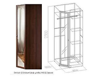 Шкаф угловой Глазов Sherlock63 (фасад зеркало)