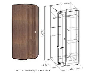 Шкаф угловой Глазов Sherlock63 (фасад стандарт)