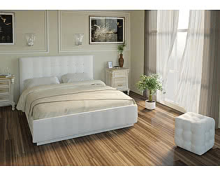 Кровать Арника Лорена 180х200 с подъемным механизмом и ящиком для белья (без страз)