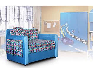 Минидиван Кенгуру тиссаж 3D (синий)