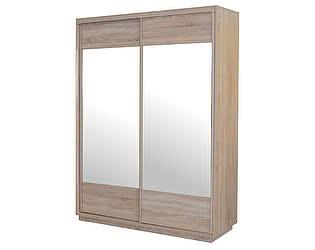 Купить шкаф МебельГрад Леон 1500 (двери по 740 мм с зеркалом)
