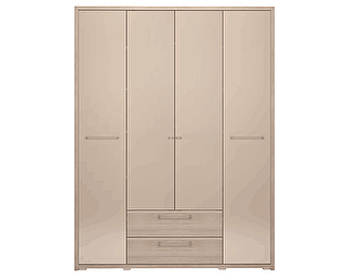 Шкаф 4-х дверный Ижмебель Вива 09 с ящиком (без зеркала)