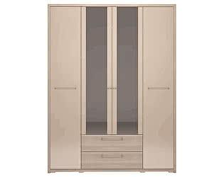 Шкаф 4-х дверный Ижмебель Вива 09 с ящиком (с зеркалом)
