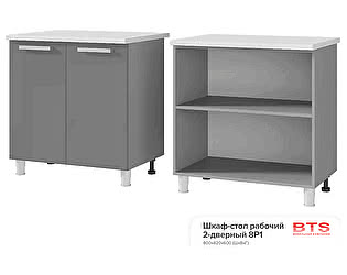 Шкаф-стол BTS Кантри 8Р1 рабочий 2-дверный