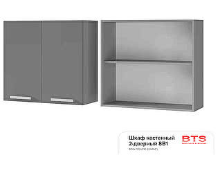 Шкаф настенный BTS Прованс 2, арт. 8В1 2-дверный
