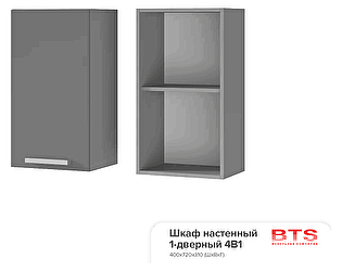 Шкаф настенный BTS Прованс 4В1 1-дверный
