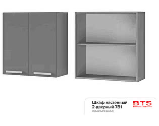 Шкаф настенный BTS Прованс 2, арт. 7В1 2-дверный