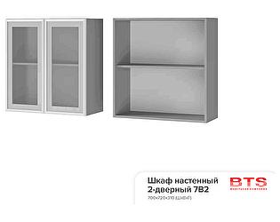 Шкаф настенный BTS Прованс 7В2 2-дверный со стеклом