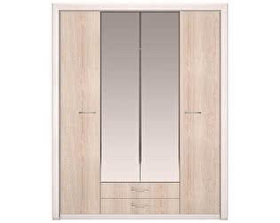 Шкаф Арника Мальта 11 для одежды 4-х дверный, с зеркалами