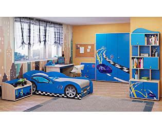 Детская комната Ижмебель Браво (синий) компоновка 1