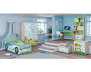 Детская комната Ижмебель Браво (фисташковый) компоновка 1