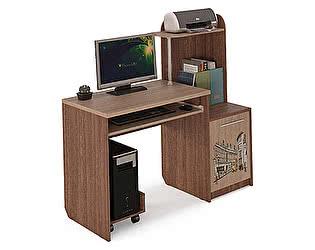 Стол компьютерный МСТ Бавария (ясень шимо)