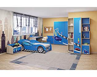 Детская комната Ижмебель Браво (синий) компоновка 2