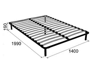 Основание Арника Ирис 140х200 см ножка 185 мм-5 шт к кровати 22