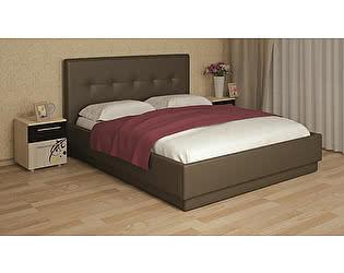 Кровать Арника Локарно 160х200 с латами интерьерная кожаная