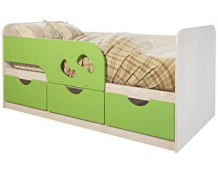 Купить кровать BTS Минима Лего-2, лайм глянец
